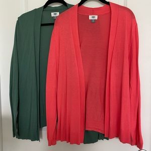 Bundle of two Old Navy unstructured cardigans